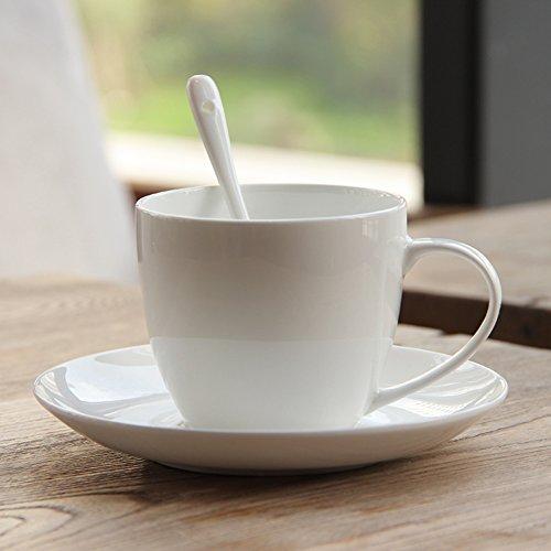 European white porcelain coffee mugs set of simple bone creative glassCeramic tea mug-A