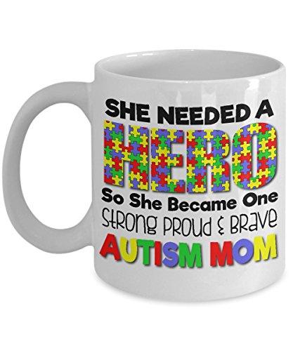 Autism mom coffee cup - Large 15 oz Coffee Mug autism mom gifts