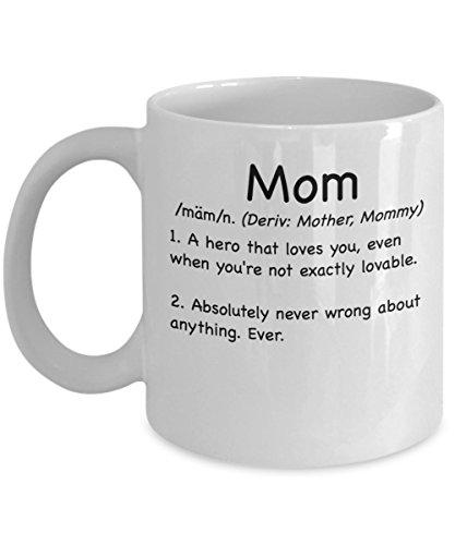 Mom Definition Mug White - Mom Definition Funny Coffee Mug - 11oz Funny Mom Definition Mug - Perfect Birthday Mothers Day Mug Cup - Gift For Mom Mimi Nana Grandma