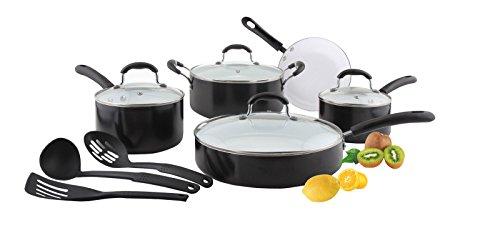 Concord 12 Pc Eco Friendly Ceramic Nonstick Cookware Set Pots Pans Dutch Oven