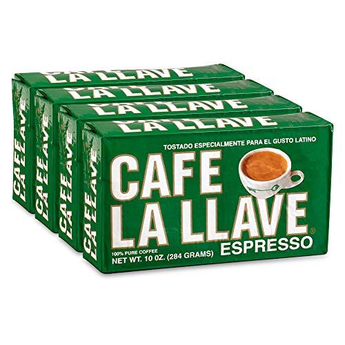 Café La Llave Espresso Coffee Dark Roast 4 x 10 Ounce Bricks