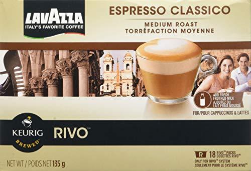 Lavazza Espresso Classico for Keurig Rivo System2-18 packs 36-026oz