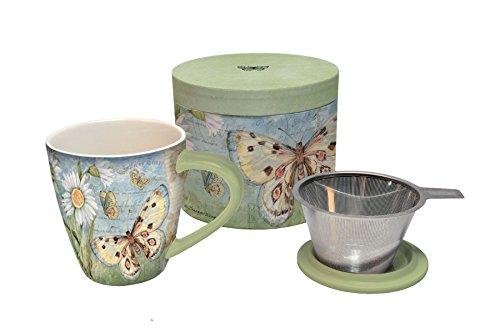 Lang Butterfly Daisy Tea Infuser Mug Multicolor