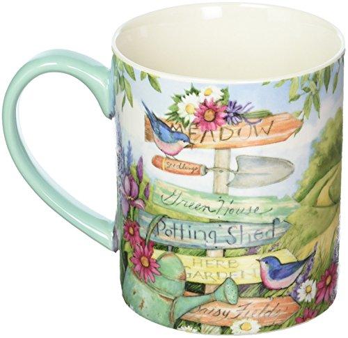 Lang Garden Signs Mug by Susan Winget 14 oz Multicolored