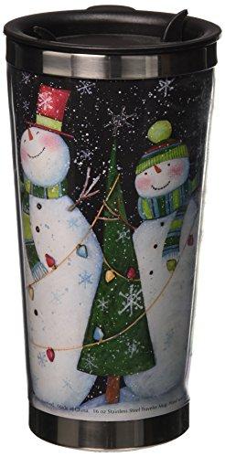 Lang Three Snowmen Traveler Mug