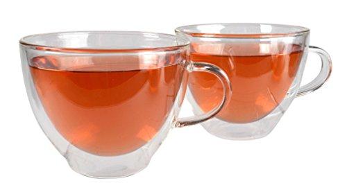 Artland Harmony Double Wall Tea Cup 12 ounces Clear-Set of 2