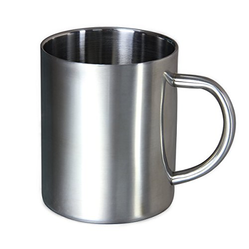 Supadeals Double Wall 300Ml Stainless Steel Travel Mug  Tea Cup
