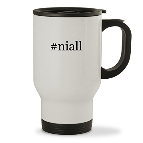 niall - 14oz Hashtag Sturdy Stainless Steel Travel Mug White
