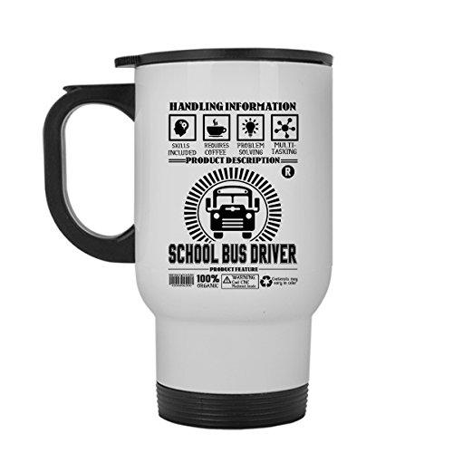 School Bus Driver Travel Mug School Bus Driver White Travel Mugs Ceramic Best Gift For Friends Travel Mug