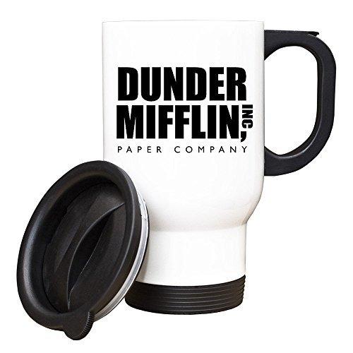 Scwoenn Dunder Mifflin White Travel Mug