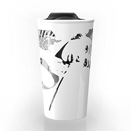 Society6 Audrey Hepburn - Black And White Travel Mug 12 oz