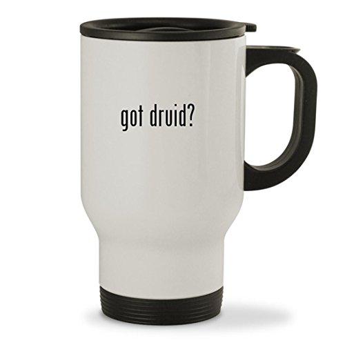 got druid - 14oz Sturdy Stainless Steel Travel Mug White