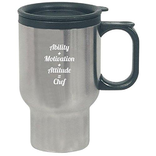 Ability Motivation Attitude Chef Awesome Typography Simple - Travel Mug