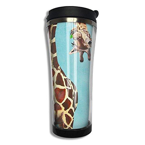 Hfaw Giraffe Men Women Outdoors Simple Travel Mug Cups Unisex