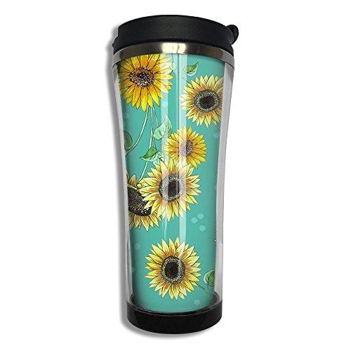 Hfaw Sunflower Pattern Men Women Outdoors Simple Travel Mug For Coffee Or Tea Unisex