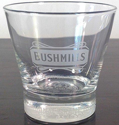 Bushmills Irish Whiskey Glass Tumbler Etched 400th Anniversary