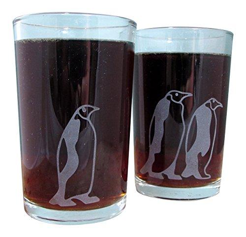Emperor Penguins  Etched Tumbler Glassware