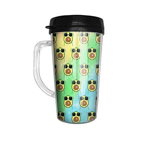 Avocado With Sunglasses Rainbow Tumbler Insulated Portable Coffee Cup-Travel Mug152 Oz