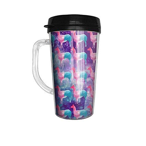 Llama Galaxy Rainbow Tumbler Insulated Portable Coffee Cup-Travel Mug152 Oz