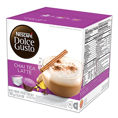 NESCAFÉ Dolce Gusto Coffee Capsules – Chai Tea Latte– 48 Single Serve Pods Makes 24 Specialty Cups   48 Count