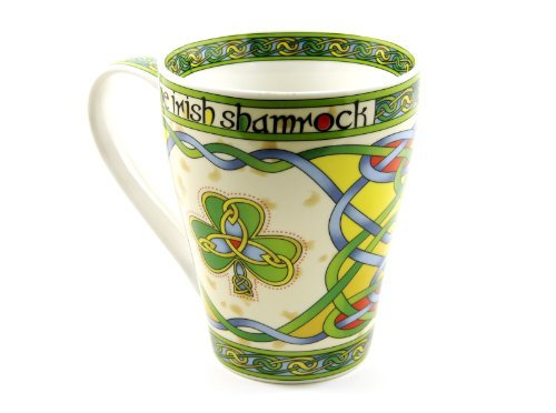 Irish Coffee Cup Shamrock Mug Cream Color Fine Bone China by Royal Tara