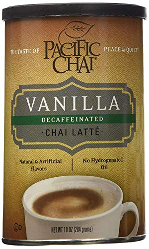 Chai Tea Latte Mix 10 OZ Regular Decaf Vanilla Chai Pack Of 6