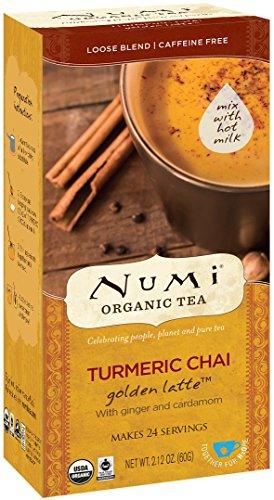 Numi Organic Tea Golden Latte Turmeric Chai 24 Count