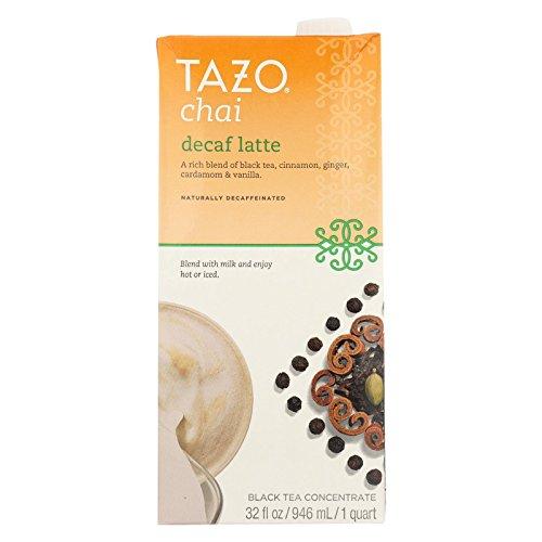 Tazo Chai Decaffeinated Tea Latte Liquid Concentrated Tea Three 3 Count 32-Ounce Packs