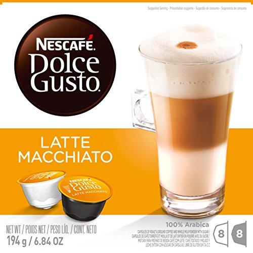 Nescafe Dolce Gusto Latte Macchiato Capsules 16 Count
