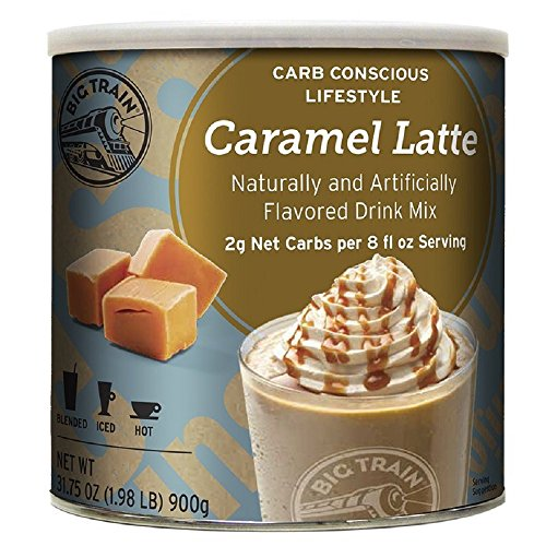 Big Train Low Carb Blended Ice Caramel Latte Mix 198 lb can