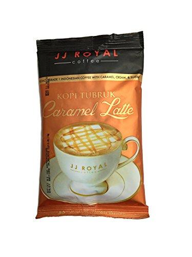 JJ Royal Coffee - Kopi Tubruk - Caramel Latte - Single Serving - Pack of 12