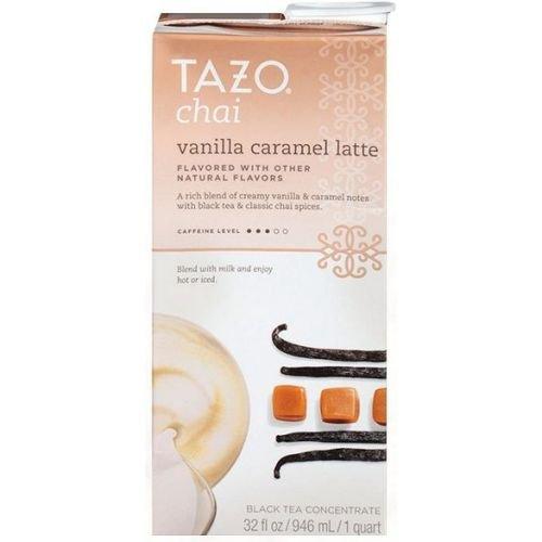 Tazo Chai Vanilla Caramel Latte Black Tea 32 Fluid Ounce -- 6 per case
