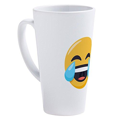 CafePress Crying Laughing Emoji 17 oz Latte Mug