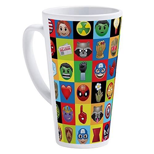 CafePress Marvel Emoji 17 oz Latte Mug