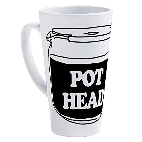 CafePress - Pot Head - 17 oz Latte Mug