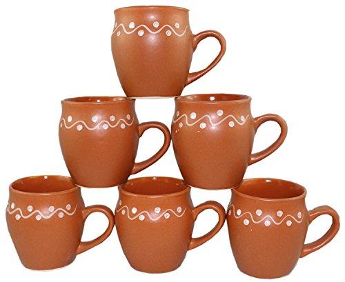 Odishabazaar Kulhar Kulhad Cups Traditional Indian Chai Tea Cup Set of 6 Tea Mug Coffee Mug