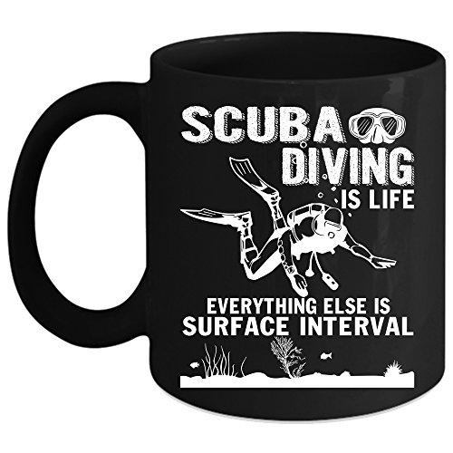 Scuba Diving Is Life Coffee Mug Outdoor Coffee Cup Coffee Mug Black
