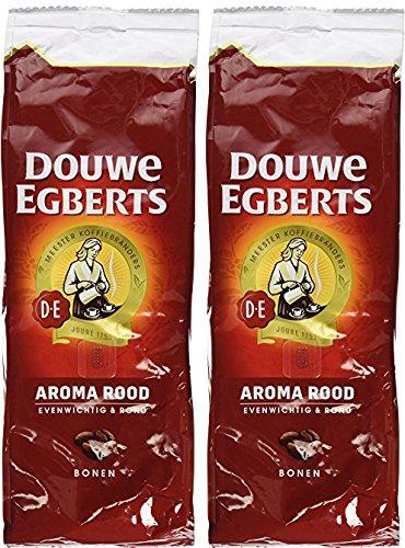 2 Packs Douwe Egberts Aroma Rood Whole Beans Coffee x 176oz500g