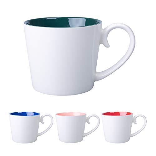 Cutiset 17 ounces Ceramic multicolor coffee milk tea Mug Set of 4
