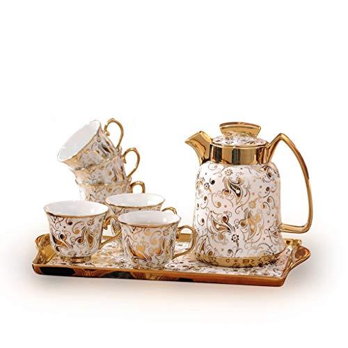Cup&Saucer Sets Europe Vintage Bone China Coffee Set British Porcelain Tea Set Ceramic Pot Creamer Sugar Bowl Teatime Teapot Coffee Cup Mug