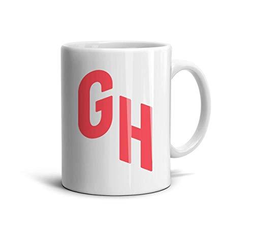 ELIBEZA Trendy Travel Mugs White Ceramic Coffee Mug Engagements Teamug Gift for Girlfriend 330ML Home Office