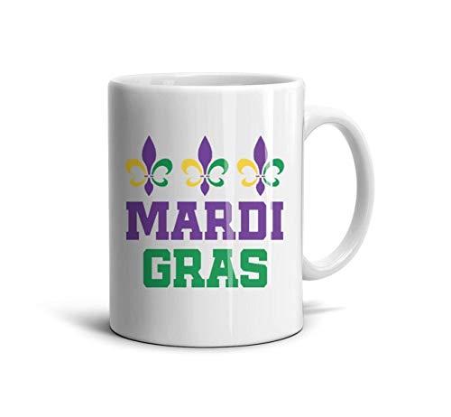 Trendy Travel Mugs Mardi Gras Fleur De Lis Trio Coffee Mug Party Teamugs Cup for Home Use