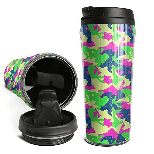 Trendy Travel Mugs Urban Digital Camo Coffee Mug Flip Lid Travel Sports Bottle Cups For Home Use