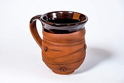 Coffee mug 118 oz Pottery mug Handmade cup Rustic coffee mug Stoneware mug Ceramic mug