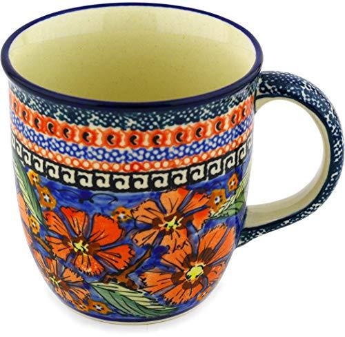 Polish Pottery Mug 12 oz Poppies UNIKAT