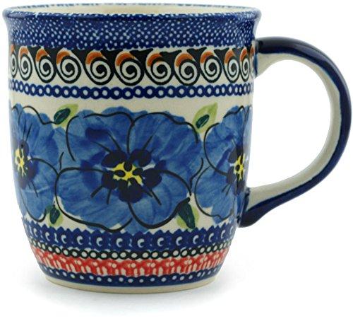 Polish Pottery Mug 12 oz Regal Bouquet UNIKAT