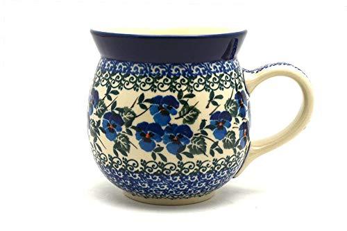 Polish Pottery Mug - 15 oz Bubble - Winter Viola