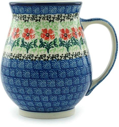 Polish Pottery Mug 17 oz Maraschino made by Ceramika Artystyczna