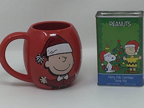 Jumbo Red Charlie Brown and Snoopy Santa Mug and 8 oz Merry Milk Chocolate Cocoa Mix