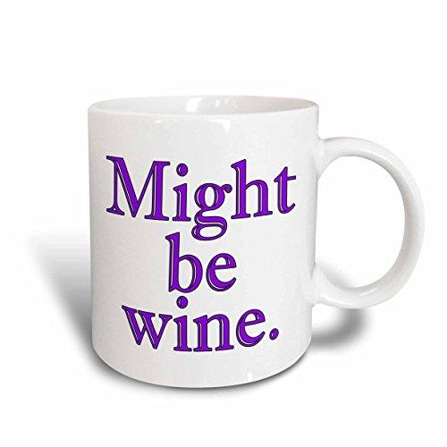3dRose mug_193441_2 Might Be Wine Purple Ceramic Mug 15-Ounce